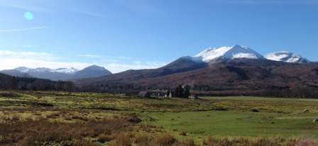 Beinn Eighe from Kinlochewe heights                Copyright:  Tom Forrest